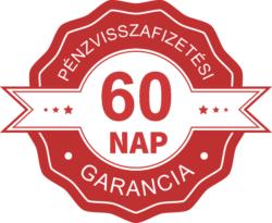 60 napos pénz-visszafizetési garancia