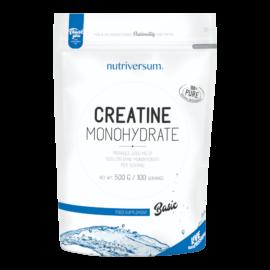 Creatine Monohydrate - 500g - BASIC - Nutriversum - ízesítetlen - színtiszta kreatin monohidrát