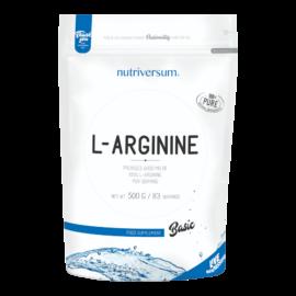 L-arginine - 500g - BASIC - Nutriversum - ízesítetlen - edzés előtti formulák, NO fokozók