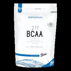 2:1:1 BCAA - 500g - BASIC - Nutriversum - ízesítetlen - természetes, 2:1:1 arányú BCAA tartalom