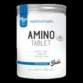 Amino Tablet - 350 tabletta - BASIC - Nutriversum - adagonként 6300 mg aminosav