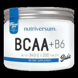 BCAA+B6 - 200 tabletta - BASIC - Nutriversum - hozzáadott B6 vitamin
