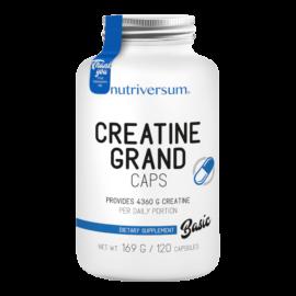 Creatine PRO Grand Caps - 120 kapszula - BASIC - Nutriversum - színtiszta kreatin monohidrát