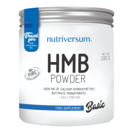 HMB Powder - 200 g - BASIC - Nutriversum - ízesítetlen - tesztoszteron és hormonszint optimalizáló