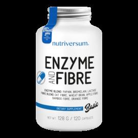 Enzyme and Fibre - 120 kapszula - BASIC - Nutriversum - adagonként 1080qg emésztőenzim