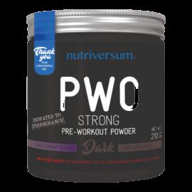 PWO Strong - 210g - DARK - Nutriversum - feketeribizli - megadózisú összetétellel