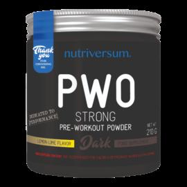 PWO Strong - 210g - DARK - Nutriversum - citrom-lime