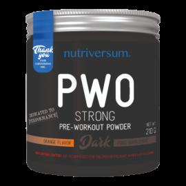 PWO Strong - 210g - DARK - Nutriversum - narancs - megadózisú összetétellel