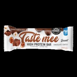 Taste Mee Protein Bar - 60 g  (csoki bevonatos) - DESSERT - Nutriversum - csokoládé-mogyoró - laktózmentes