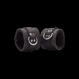 Devil Sticks - bőr bilincs (fekete) - minőségi bőrbilincs BDSM játékokhoz