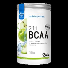2:1:1 BCAA - 360 g - FLOW - Nutriversum - zöld alma - esszenciális aminosav