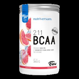 2:1:1 BCAA - 360 g - FLOW - Nutriversum - grapefruit - esszenciális aminosav