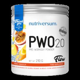 PWO 2.0 - 210g - FLOW - Nutriversum - mangó-maracuja - megadózisú összetétellel