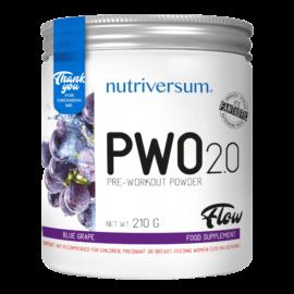 PWO 2.0 - 210g - FLOW - Nutriversum - kékszőlő - megadózisú összetétellel