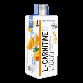 L-Carnitine 3 000 mg - 500 ml - FLOW - Nutriversum - narancs - hozzáadott króm és vitaminok