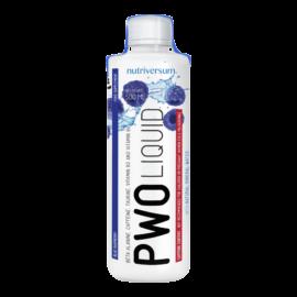 PWO Liquid - 500 ml - FLOW - Nutriversum - kék málna - nincs több kevergetés