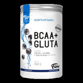 BCAA+GLUTA - 360 g - FLOW - Nutriversum - feketeribizli - 5080 mg minőségi aminosav adagonként
