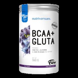 BCAA+GLUTA - 360 g - FLOW - Nutriversum - kékszőlő - 5080 mg minőségi aminosav adagonként