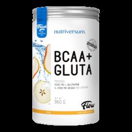BCAA+GLUTA - 360 g - FLOW - Nutriversum - körte - 5080 mg minőségi aminosav adagonként