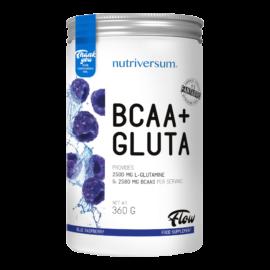 BCAA+GLUTA - 360 g - FLOW - Nutriversum - kék málna - 5080 mg minőségi aminosav adagonként