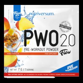 PWO 2.0 - 7g - FLOW - Nutriversum - mangó-maracuja - megadózisú összetétellel