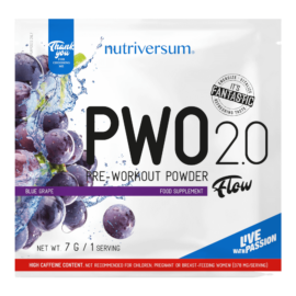 PWO 2.0 - 7g - FLOW - Nutriversum - kékszőlő - megadózisú összetétellel