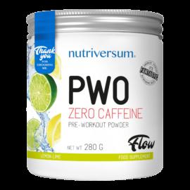 PWO zero caffeine - 280g - FLOW - Nutriversum - citrom-lime