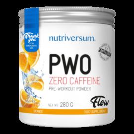 PWO zero caffeine - 280g - FLOW - Nutriversum - narancs - nem tartalmaz koffeint