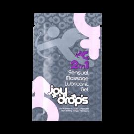 JoyDrops 2in1 sensual massage síkosító (5ml) - síkosító