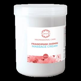 Frangipáni-jázmin illatú zsíros masszázskrém - 1000ml - színezék-, parabén- és paraffin mentes