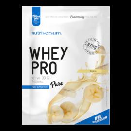 Whey PRO - 30 g - PURE - Nutriversum - banán - 23 g prémium fehérje forrás