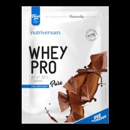 Whey PRO - 30 g - PURE - Nutriversum - csokoládé - 23 g prémium fehérje forrás