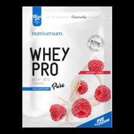 Whey PRO - 30 g - PURE - Nutriversum - málna-joghurt - 23 g prémium fehérje forrás