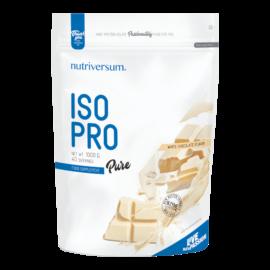 ISO PRO - 1 000 g - PURE - Nutriversum - fehércsokoládé - prémium, fonterra fehérjealap