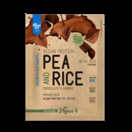 Pea & Rice Vegan Protein - 30g - VEGAN - Nutriversum - csokoládé
