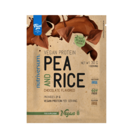 Pea & Rice Vegan Protein - 30g - VEGAN - Nutriversum - csokoládé - 100% növényi fehérje
