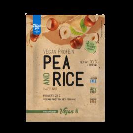 Pea & Rice Vegan Protein - 30g - VEGAN - Nutriversum - mogyoró - 100% növényi fehérje