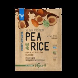 Pea & Rice Vegan Protein - 30g - VEGAN - Nutriversum - csokoládé-marcipán - 100% növényi fehérje
