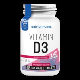 D3 - 60 rágótabletta - VITA - Nutriversum -