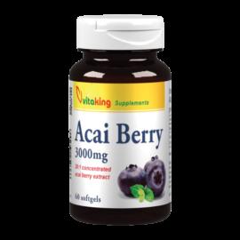 Acai Berry 3000mg - 60 gélkapszula - Vitaking - valódi szuperélelmiszer