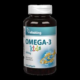 Omega-3 Kids 500mg - 100 gélkapszula - Vitaking  -