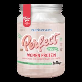 Perfect Woman Protein - 500 g - WSHAPE - Nutriversum - fehércsokoládé-eper - teljeskörű tápanyag tartalom
