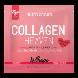 Collagen Heaven - 15 g - WSHAPE - Nutriversum - eper - 10.000mg Kollagén