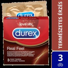 Durex RealFeel óvszer (3db) - latexmentes óvszer