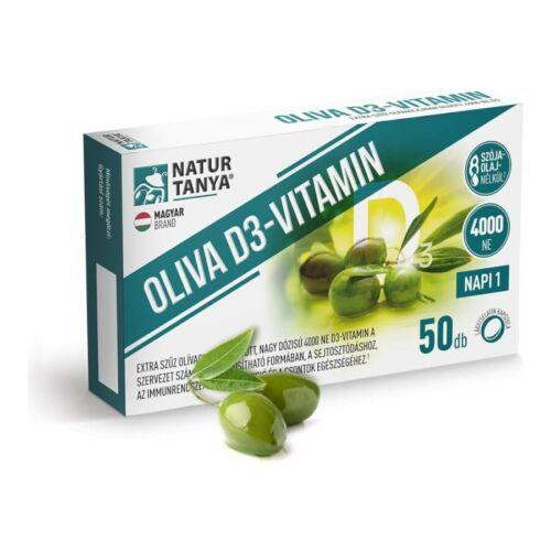 Oliva D3-vitamin - 4000 NE - 50 lágyzselatin kapszula - Natur Tanya -