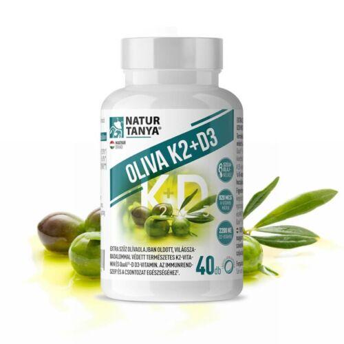 Oliva K2+D3 - 40 lágyzselatin kapszula - Natur Tanya -