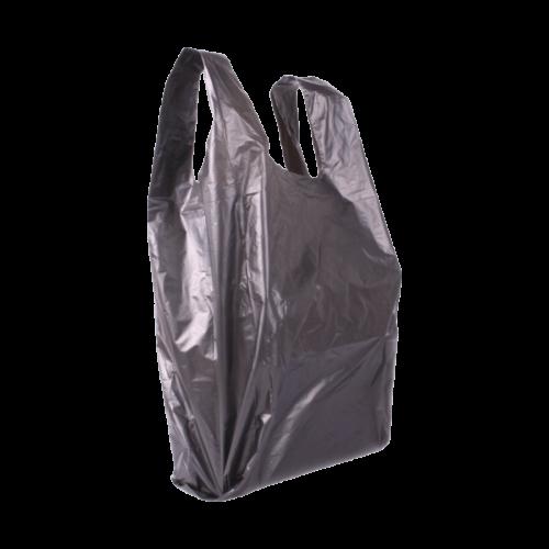 Műanyag táska kicsi 28x36 (fekete) - az ár tartalmazza a termékdíjat