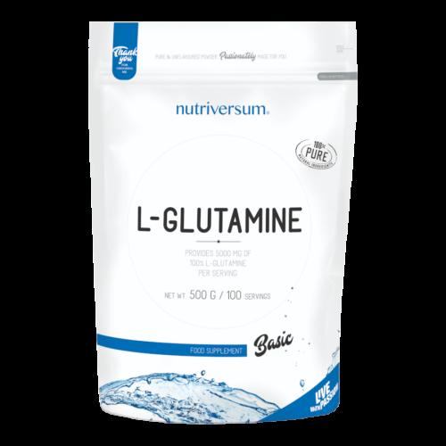 100% L-Glutamine - 500g - BASIC - Nutriversum - ízesítetlen - vegán étrendbe illeszkedő formula