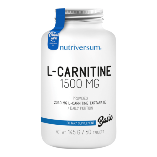 L-carnitine 1500 mg - 60 tabletta - BASIC - Nutriversum -