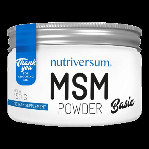MSM Powder - 150 g - BASIC - Nutriversum - ízesítetlen -